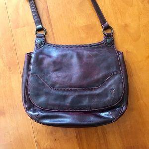 Frye crossbody purse, Melissa saddle in wine